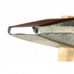 Naklepávací kladivo s ručně upravenou čočkovitou leštěnou plochou